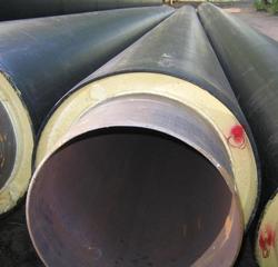 Трубы стальные с тепловой изоляцией из ППУ